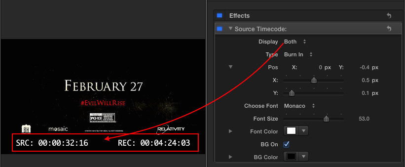 CoreMelt Free Source Timecode Plugin  | Final Cut Pro X Babbling